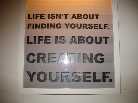 Cool quote on the wall