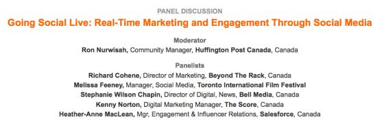 Digital Media Summit Panel Description