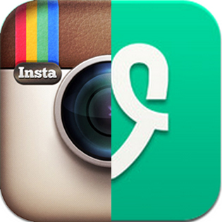 Vine and Instagram spliced image
