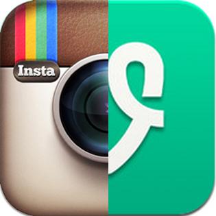 Vine and Instagram spliced image