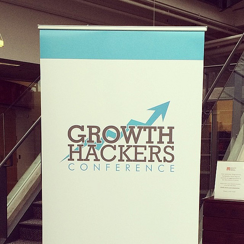 Sign from the Growth Hackers Conference
